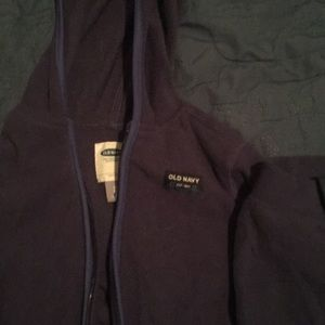Old Navy fleece navy jogging suit, jacket and pant